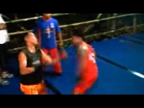 Pencak Dor TKO Kenting VS Syamsul Hadi Di Batuaji Semaput