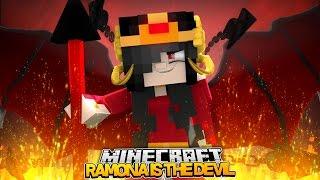 Minecraft : RAMONA IS THE QUEEN DEVIL OF DARKNESS!(Roleplay )w/LittleKellyandLittleCarly