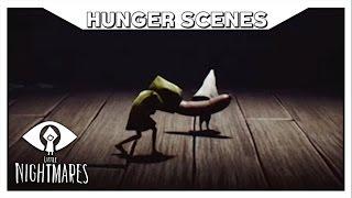 LITTLE NIGHTMARES - All Hunger Scenes (Six's Starvation Scenes)
