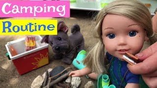 American Girl Camping Morning Routine
