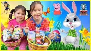 Easter Eggs Hunt Shopkins Egg Surprise Toys Peppa Pig Paw Patrol Superheroes Family Fun for Everyone