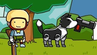 Ruining Scribblenauts by using guns to solve problems