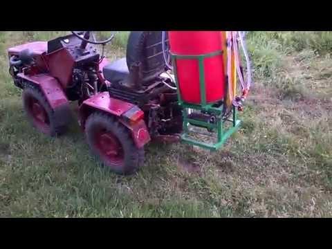 Опрыскиватель на трактор своими руками видео