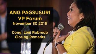 Closing Remarks - Ang Pagsusuri Vice Presidential Forum