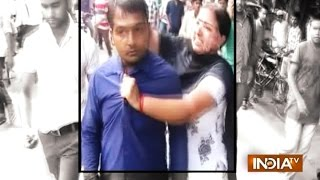 Man Thrashed Publicly by Mother-in-law for Molesting Her Daughter for Dowry - India TV