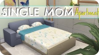 The Sims 4 // SINGLE MOM STARTER APARTMENT | SPEED BUILD (No CC)