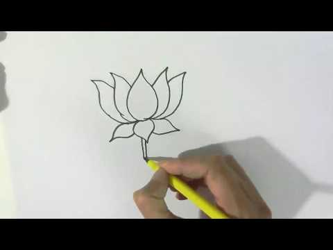 Xxx Mp4 How To Draw A Lotus In Easy Steps For Children Kids Beginners 3gp Sex