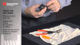 Hannay Reels | Changing Packing Seals | Balanced Pressure Swivel Joint