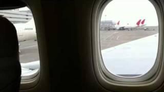 Earthquake in Tokyo Airport on 3.11 2011. 羽田空港 JAL飛行機の座席にて地震に遭遇