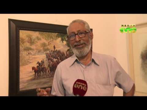 Sarath Chandran's painting exhibition at Kerala Lalithakala Academy