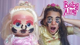 Desafio Maquiagem Surpresa com minha Baby Alive Bia Bagunça e Bela | DisneySurpresa