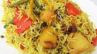 The Most Delicious Vegetable Pulao Ever لذیذ ترین پلو ترکاری یا سبزیجات