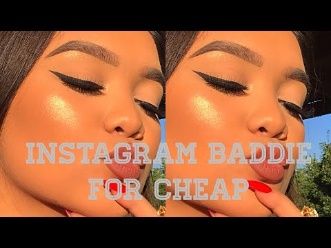 CHEAP AF INSTAGRAM BADDIE INSPIRED MAKEUP!! UNDER $50!!
