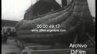 DiFilm - Thor Heyerdahl and the barge RA I in Morocco 1969