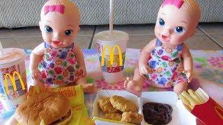 BABY ALIVE McDonalds Movie With Pumpkin, Ruby Snow, Margie McCabe & Twins!