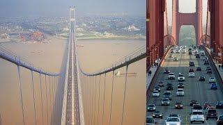 Top 10 puentes colgantes mas largos del mundo