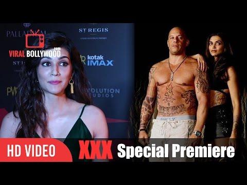 Kriti Sanon Review on XXX | Vin Diesel, Deepika Padukone, D.J Caruso | XXX Premiere Show