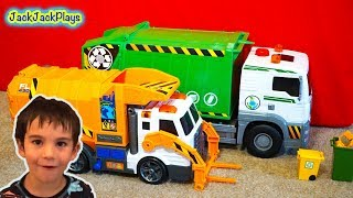 5 Garbage Trucks for Kids Surprise Toys Unboxing - Daddy