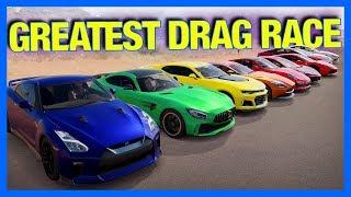 Forza Horizon 3 Online : WORLD'S GREATEST DRAG RACE 7 RECREATION!!