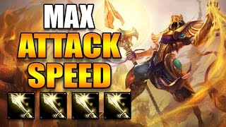 MAX ATTACK SPEED AZIR (4x NASHORS TOOTH) - League of Legends