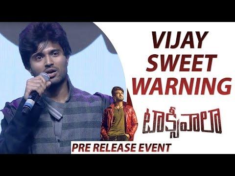 Xxx Mp4 Vijay Deverakonda Strong And Sweet Warning To People Who Pirated Taxiwaala Movie 3gp Sex