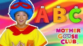 A B C D E F G | Bluesy Alphabet Song | Mother Goose Club Nursery Rhymes | ABC Phonics + Kids Songs