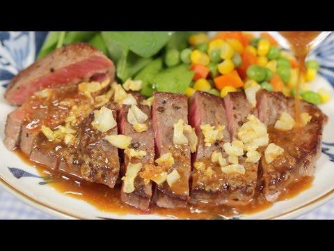 Steak with Garlic Sauce Recipe Collabo with Papadesuyo777 Cooking with Ai and Cook Kafemaru
