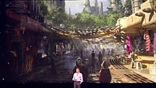 Never-before-seen Star Wars Land concept images at the D23 keynote