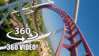 Shock VR 360 Roller Coaster POV AWESOME Rainbow Magicland Italy
