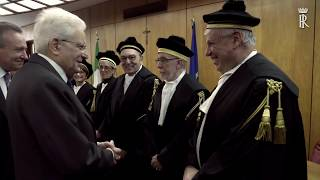 Mattarella interviene all'insediamento del nuovo Presidente della Corte dei Conti
