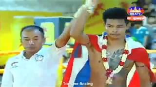 Khmer Boxing, សារឿន ចាន់ ប៉ះ ភេត ងាម Sarouen Chan Vs Peth Ngam(Thai), Kun Khmer Boxing SeaTV Boxing