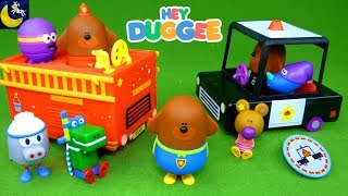 Hey Duggee Toys Fire Truck Police Car Super Hero Squirrels Happy Betty Tag Rescue Badge Toddler Toys