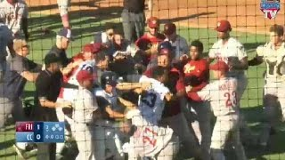 Frisco and Corpus Christi benches clear after HBP