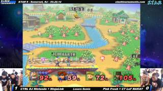 KTAR 9 - CTRL DJ Nintendo + NinjaLink vs CT LoF NAKAT + Pink Fresh - Project M