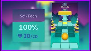 Rolling Sky - Sci-Tech (Level 7) All Gems + Widescreen