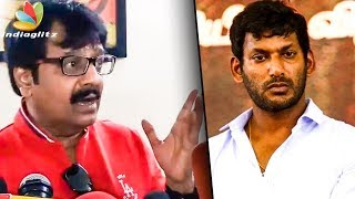 Tamil Cinema Faces a Downfall Because of Few People : Vivek Speech   Film Industry Strike