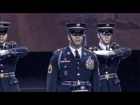 watch U.S. Army Drill Team Performs • Spirit of America 2014