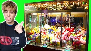WON TONS AT THE CLAW MACHINE GAMES AT DAVE AND BUSTERS!