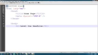 HTML Tutorials -- Part 1 -- Basic HTML Page
