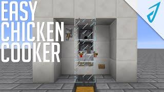 Minecraft: EASY CHICKEN COOKER! (Redstone Tutorial)