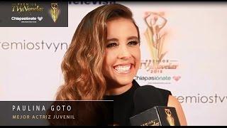 Paulina Goto - Mejor Actriz Juvenil Premios TVyNovelas