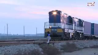 Ukraine-Georgia-Azerbaijan-Kazakhstan-China container train arrives in Baku Port