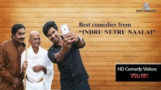 Indru Netru Naalai Tamil Movie   Full Comedy Scene   Vishnu Vishal   Mia George   Karunakaran