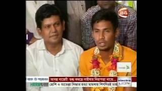 Mustafizur Rahman gets hero's welcome at HSIA