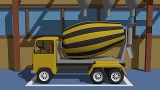 Factory Cement Mixer | Truck Concrete Mixer | Betoniarka Animacje Dla Dzieci 2017
