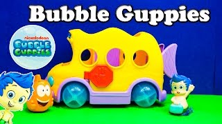 BUBBLE GUPPIES Nickelodeon Bubble Guppy Gil and Mr. Grouper Bus a Bubble Guppy Video Toy Review