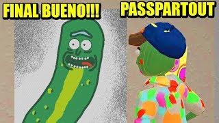FINAL BUENO!!! PICKLE RICK Vs PEPPA PIG - PASSPARTOUT   Gameplay Español
