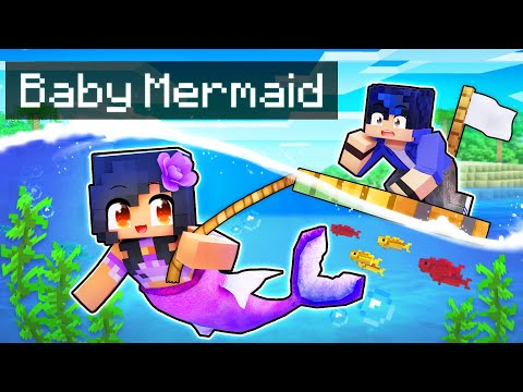Playing as a SECRET Baby MERMAID In Minecraft