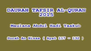 Daurah Tafsir Maulana Hadi   Sesi 90   Surah An Nisa  Ayat 117   132