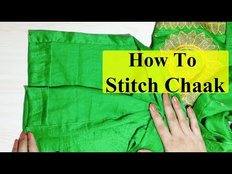 How to Stitch Open Side Slits(Chaak) of Kurti